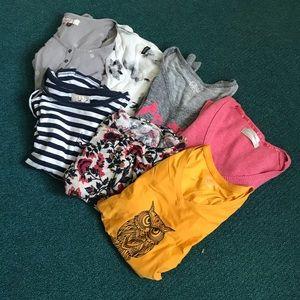 7 long sleeve winter shirts lot